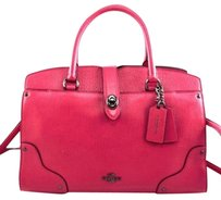 Coach Leather Grain Mercer Satchel in Pink