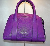 Coach Bleecker Mini Preston Satchel in purple