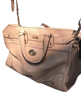 Coach Satchel in tan/taupe with light gold hardware