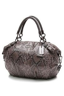 Coach Python Embossed Shoulder Bag