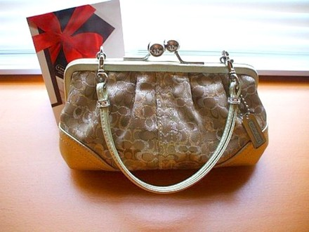Coach Louis Vuitton Dooney Bourke Gucci Channel Rare Vintage Tote in Gold/Silver