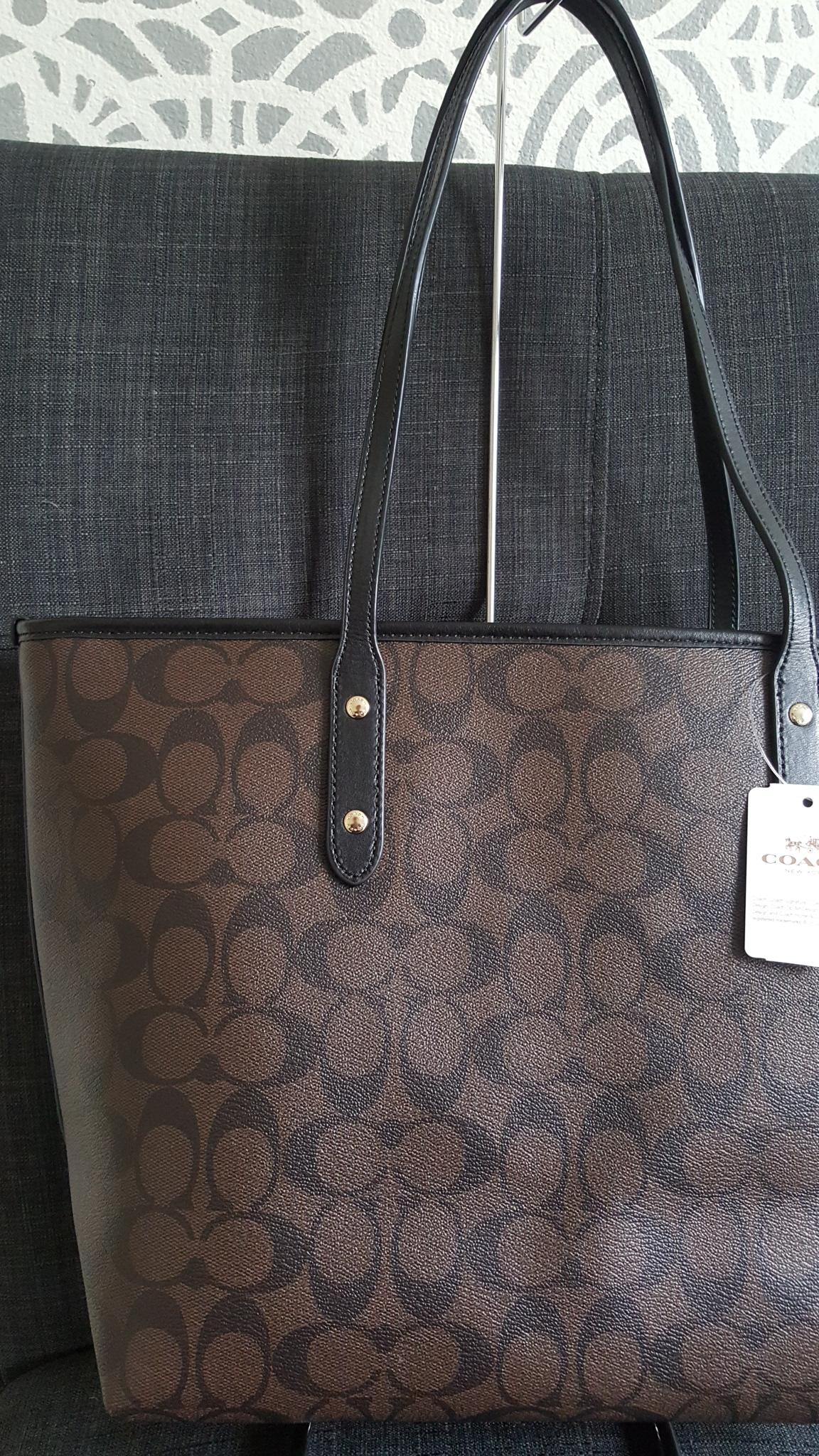 78a6832c273 hot coach black and brown tote 624ef 42682