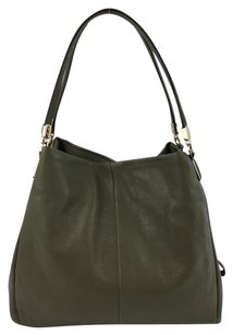 Coach Small Phoebe Leather Grey Cc Shoulder Bag