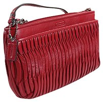 Coach Taylor Leather 50153 Wristlet in Red