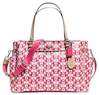 Coach PINK AND WHITE Diaper Bag