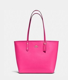 Coach Tote in Pink Ruby
