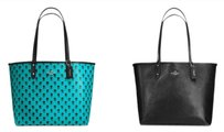 Coach Tote in Turqouise or Black