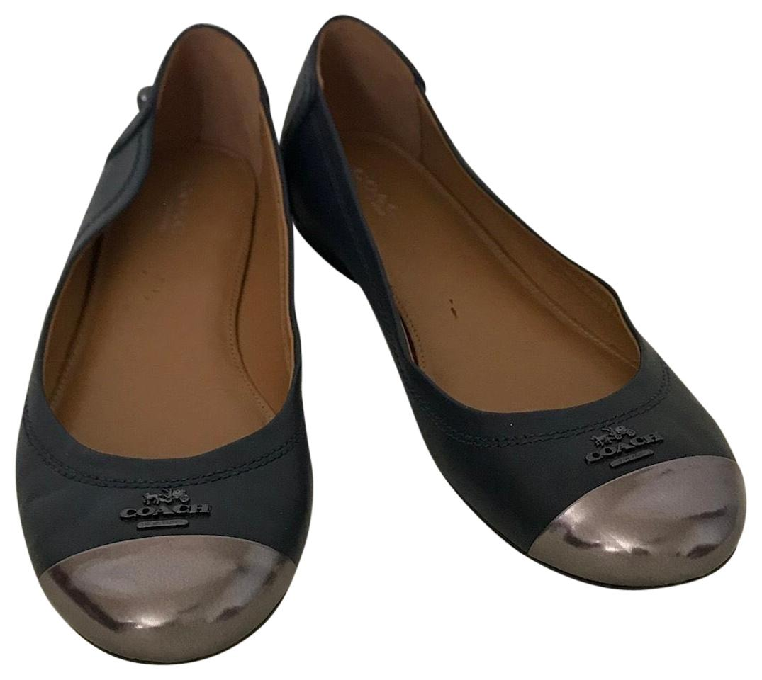 great deals cheap online Coach Leather Round-Toe Flats free shipping shopping online 2wLlL2