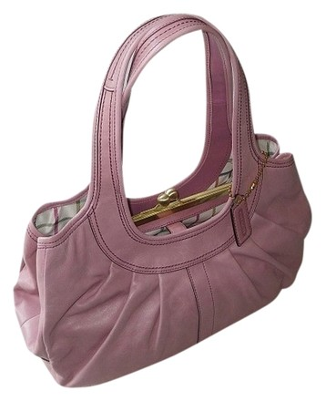 Preload https://item4.tradesy.com/images/coach-vintage-rose-pleated-kisslock-frame-tote-pink-leather-with-tattersall-lining-satchel-519628-0-0.jpg?width=440&height=440