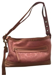 Coach Vintage Suede Canvas Satchel in Pink