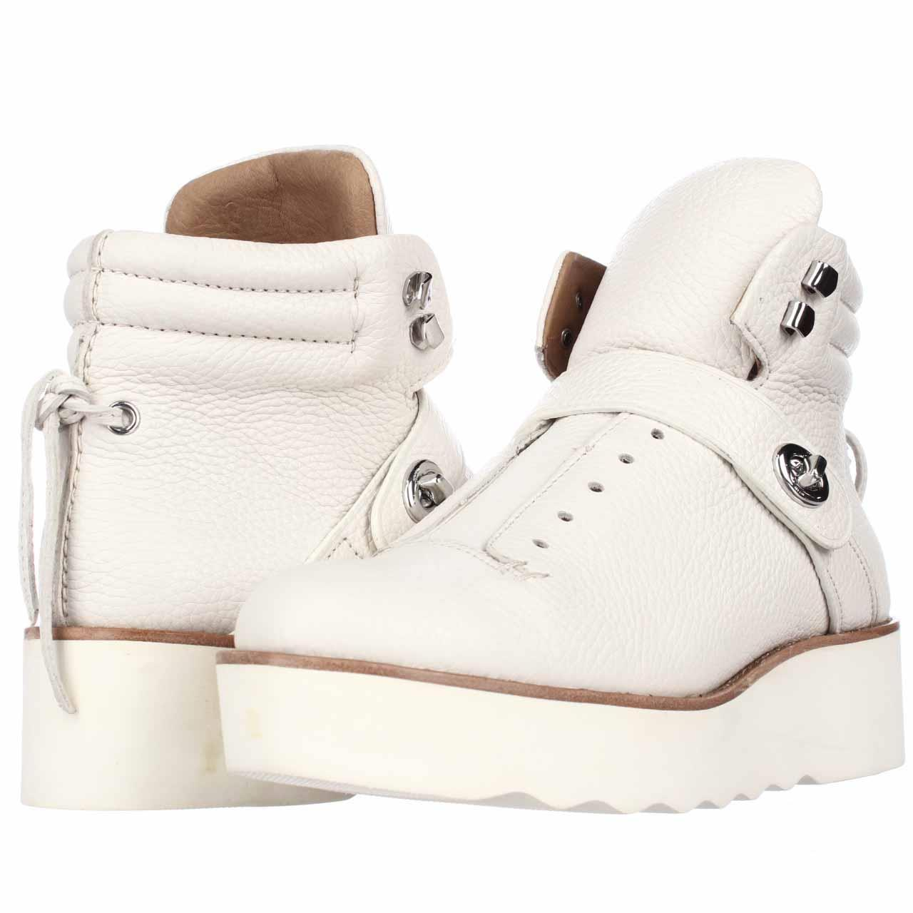coach hiker wedge laceless ankle chalk 8 5 us white