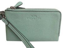 Coach Wristlet in Seagrass Green