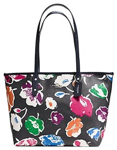 Coach Zip Top Tote Tote Classic Floral multi Travel Bag