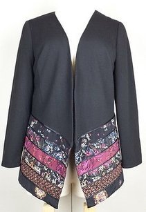 Coldwater Creek 1x Black Mixed Fabric Multi-Color Jacket