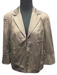 Coldwater Creek Coldwater Creek Gray Lined Pockets 34 Sleeve Business Blazer Sma9832