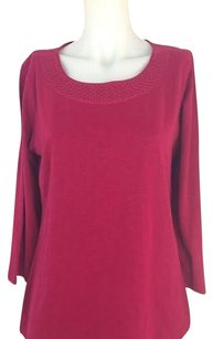 Coldwater Creek Womens T Shirt Cranberry