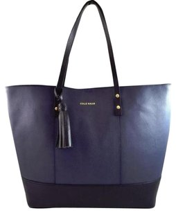 Cole Haan Bayleen Leather Tote in Blue
