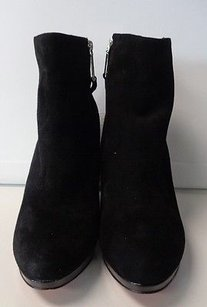 Cole Haan Edgy Wedge Black And Silver Boots