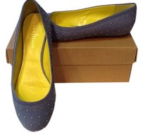 Cole Haan Studded Suede Comfortable Blue Nubuck Flats