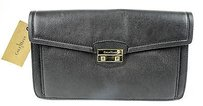 Cole Haan B45050 Leather Zoe Ii Izzie Black Clutch