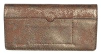 Cole Haan Cole Haan Womens Gold Wallet Distressed Metallic Purse Handbag