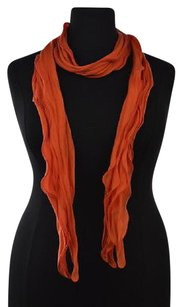 Cole Haan Cole Haan Womens Orange Scarf Os Cotton Casual