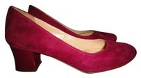 Cole Haan Leather Suede Patent Leather Red Pumps