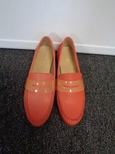 Cole Haan Slip On Round Toe Penny Loafers B3189 Coral Flats