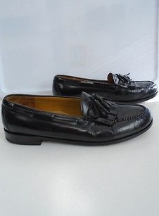Cole Haan Black Leather Slip On Loafer Dress Shoes W Tassels 13d B3461