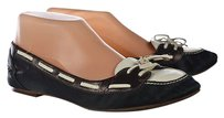Cole Haan Womens Green Loafers Leather Color Block Slip On Multi-Color Flats
