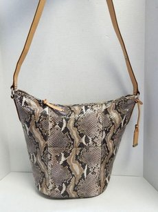 Cole Haan Snake Python Leather Bucket Cross Body Bag