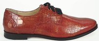 Cole Haan Metallic Armor Embossed Perforated Trim Breslyn Oxford Red Flats