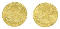 Collectible Gold Coins * 2 pieces 24K Yellow Gold American Collectible Coins