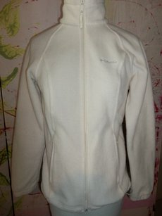 Columbia Small Full Zip Fleece white Jacket