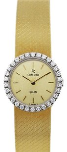 Concord Concord 18k Yellow Gold Diamond Bezel Ladies Watch