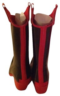 Corkey's Red And Black Boots