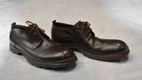 Costume National Homme Brown Leather Lace Up Oxfords Shoes Us
