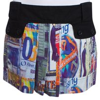 Custo Barcelona Mini Pleated Mini Skirt MULTI