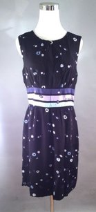 Cynthia Rowley Silk With Dots Banded Monogrammed Dress