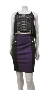 Cynthia Rowley Purple Navy Skirt Multi-Color