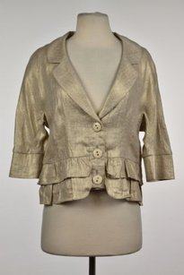 Cynthia Steffe Womens Gold Jacket