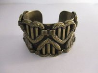 DANNIJO Dannijo Brass Queen Of Hearts Cuff Bracelet