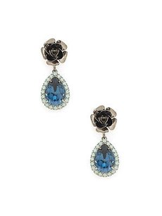 DANNIJO Dannijo Warner Teardrop Crystal Drop Earrings