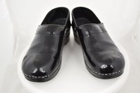 Dansko Womens Metallic Clogs 366 Slip On Causal Mules Black Flats