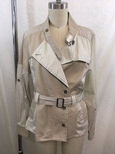 Daughters of the Liberation Two Tone Belted Safari Khaki Jacket