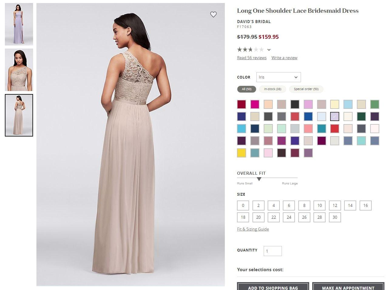 One Size Fits All Bridesmaid Dresses