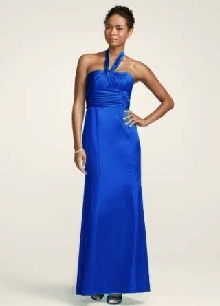 Davids Bridal Royal Blue Formal Bridesmaidmob Dress Size 8 M