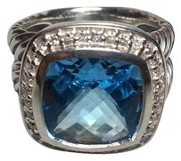 David Yurman AVID YURMAN Albion Ring with Blue Topaz and Diamonds