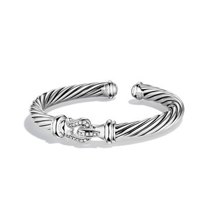 David Yurman Cable Classics Buckle Cuff Bracelet with Diamonds (Medium)