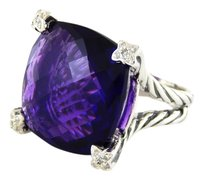 David Yurman Cable Chatelaine Amethyst and Diamonds Ring